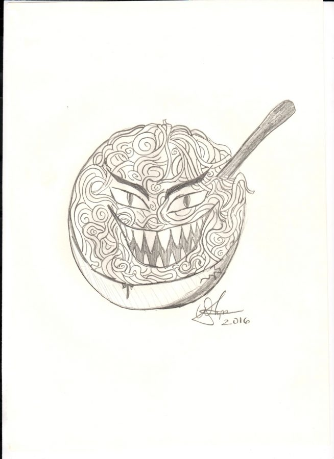 A+bowl+of+leering+pasta.+Creepy+objects+are+just+some+of+the+things+you+will+find+in+Creepypasta+stories.