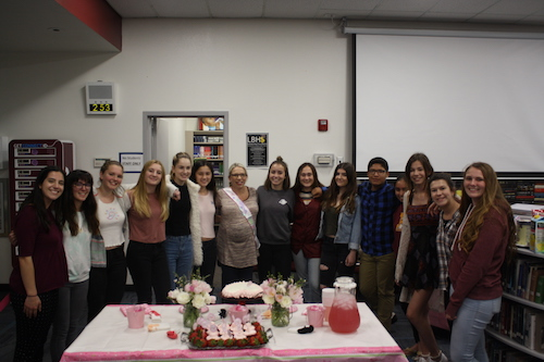 On Tuesday, March 21, the cheer team held a baby shower for departing coach Yvette Ross. With her baby due May 5, Ross will go on maternity leave in early April.