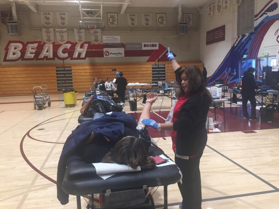 Students donate blood for those in need