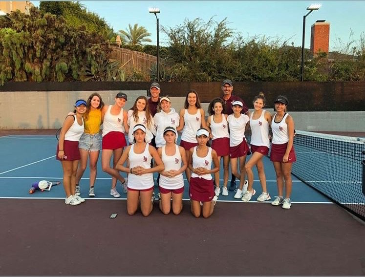 Varsity+girls+tennis+team