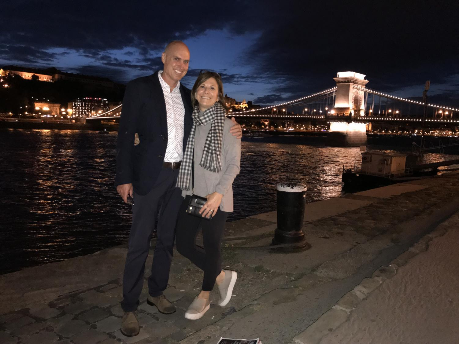 Gregory and her husband enjoy their soon-to-be home in Budapest, Hungary. The couple will reside in Budapest for the next two years before returning home to Laguna.