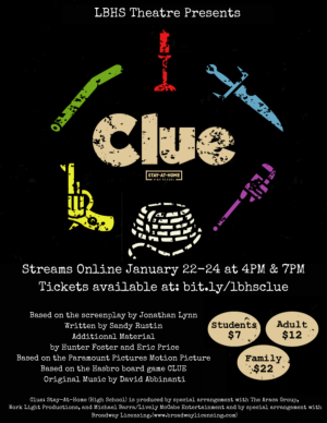 Clue (High School Edition) Stay-At-Home!